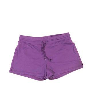 Athleta Oceanside purple swim shorts size large